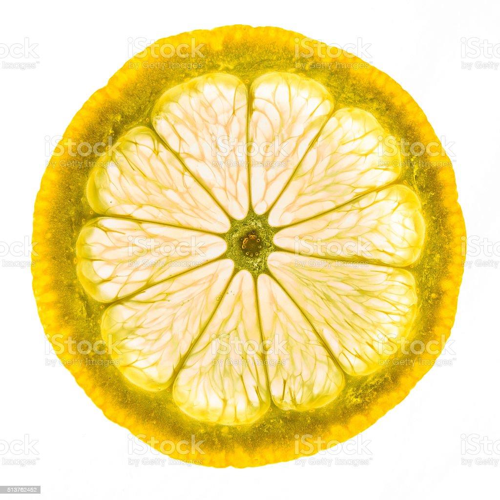 Isolé de fruits au citron photo libre de droits