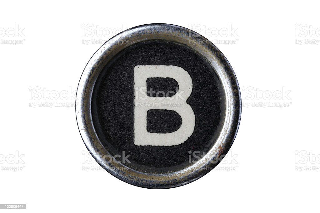 Isolated Letter B royalty-free stock photo