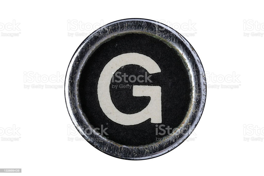 Isolated Letter G royalty-free stock photo