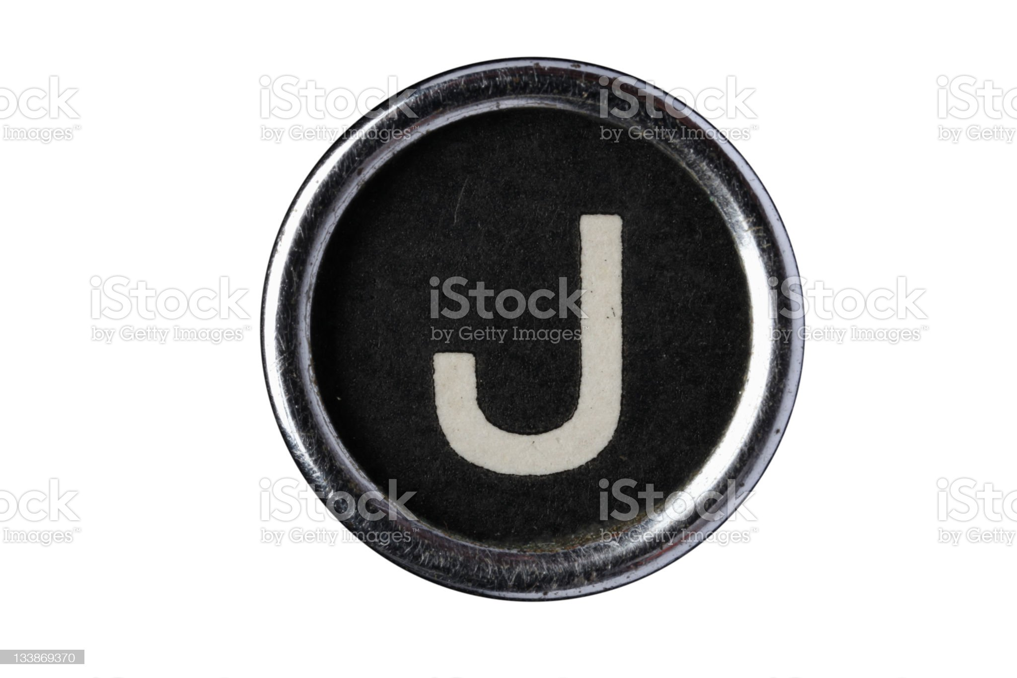 Isolated Letter J royalty-free stock photo