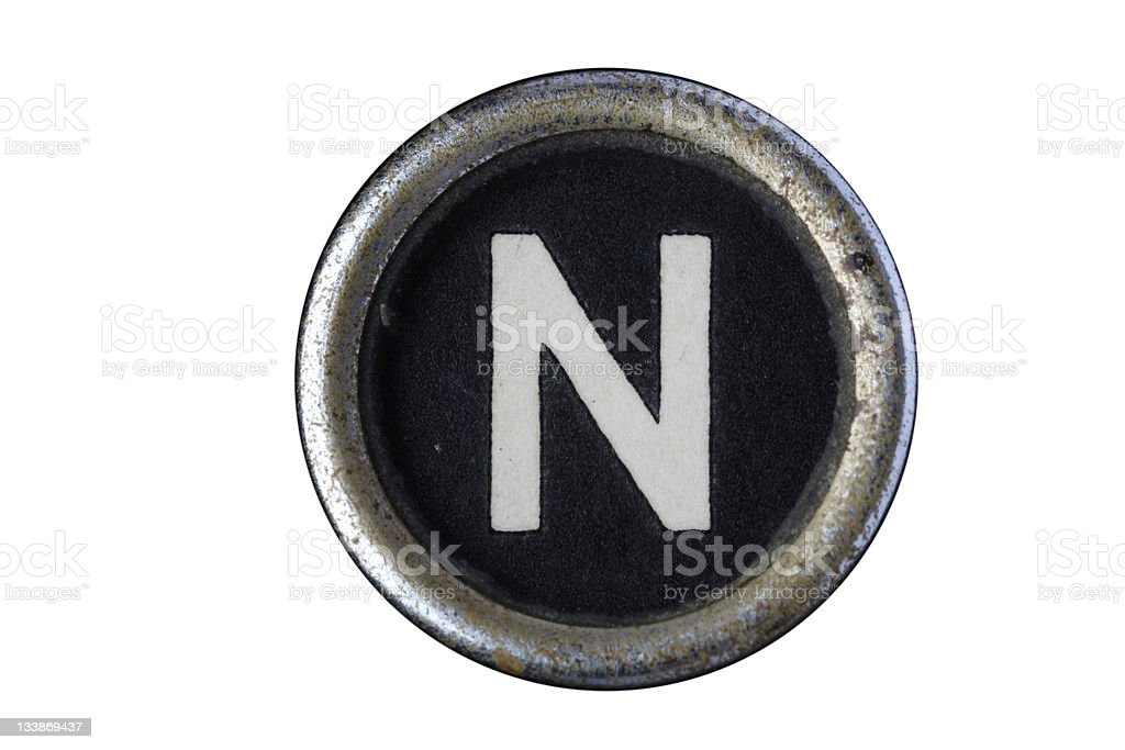 Isolated Letter N stock photo