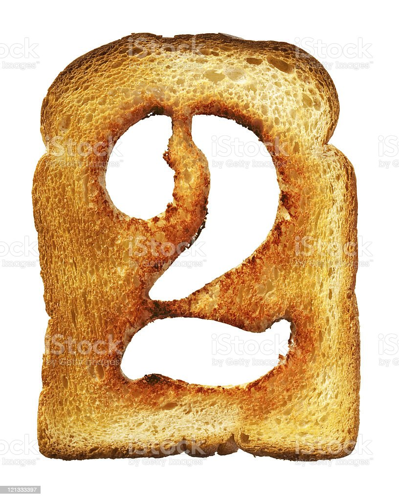 isolated Letter of Toast alphabet stock photo
