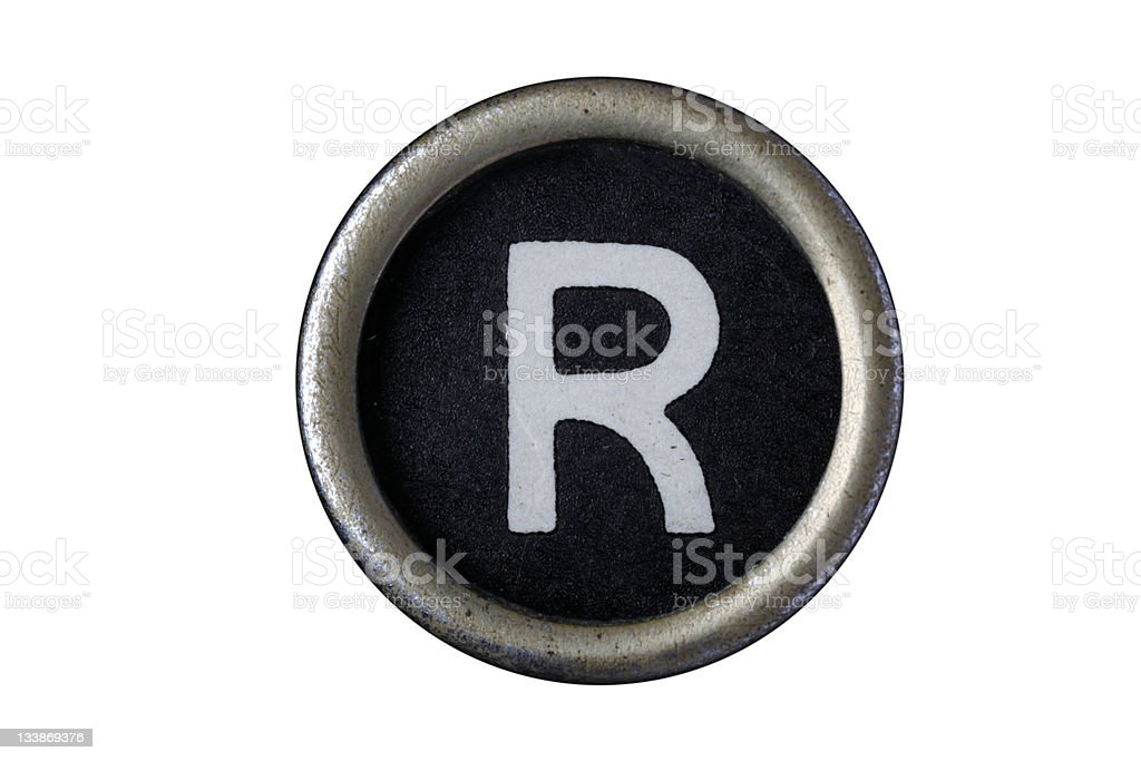 Isolated Letter R royalty-free stock photo