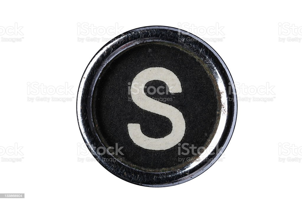 Isolated Letter S royalty-free stock photo