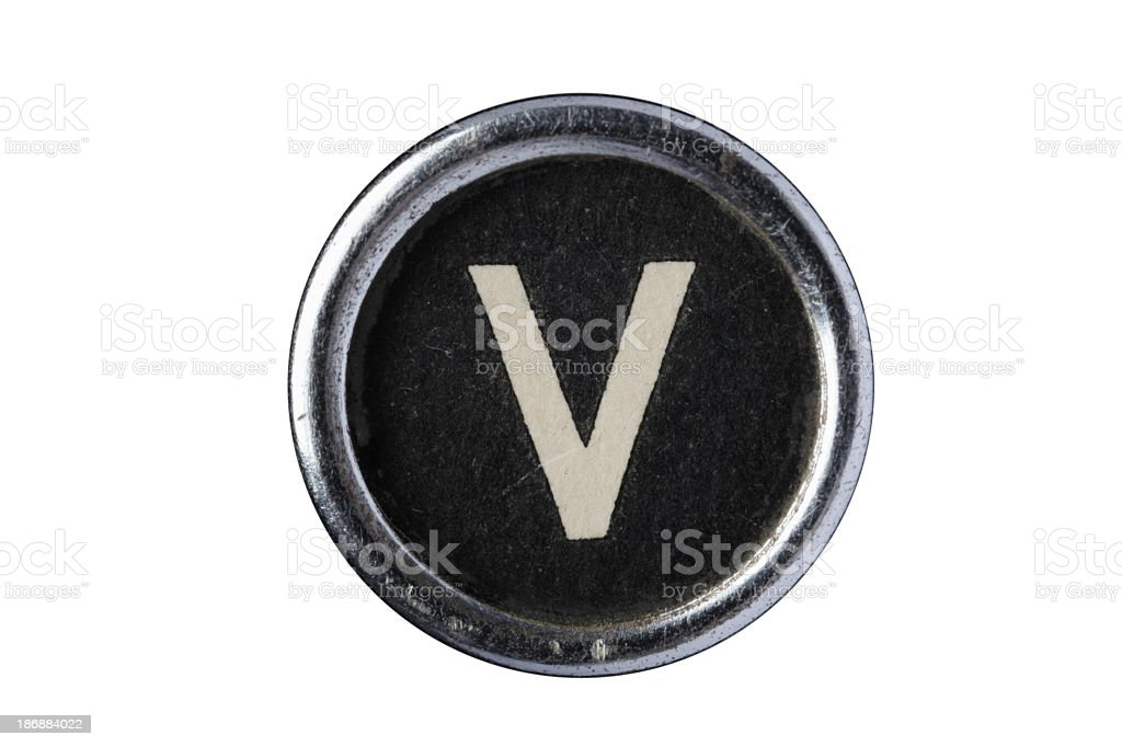 Isolated Letter V royalty-free stock photo