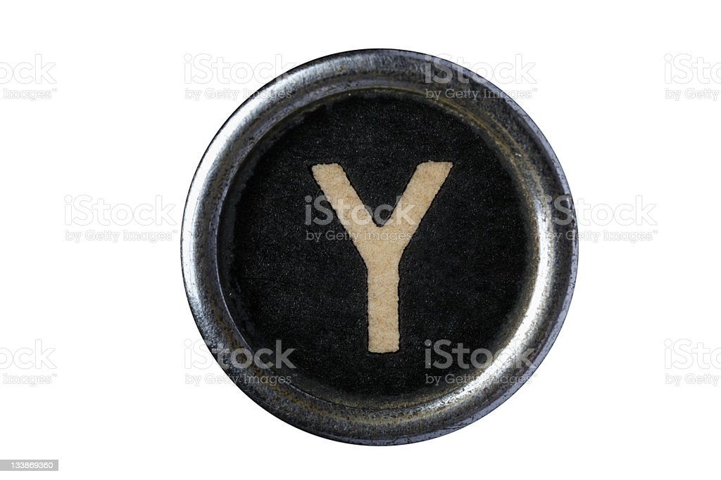 Isolated Letter Y stock photo