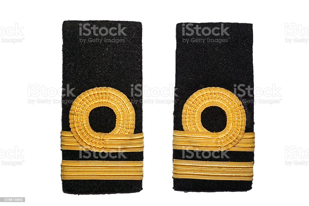 isolated lieutenant navy rank sign stock photo