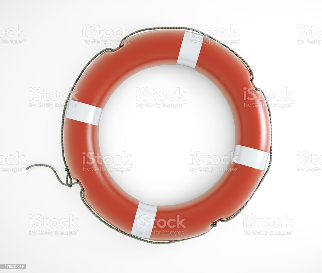 Isolated lifesaver royalty-free stock photo