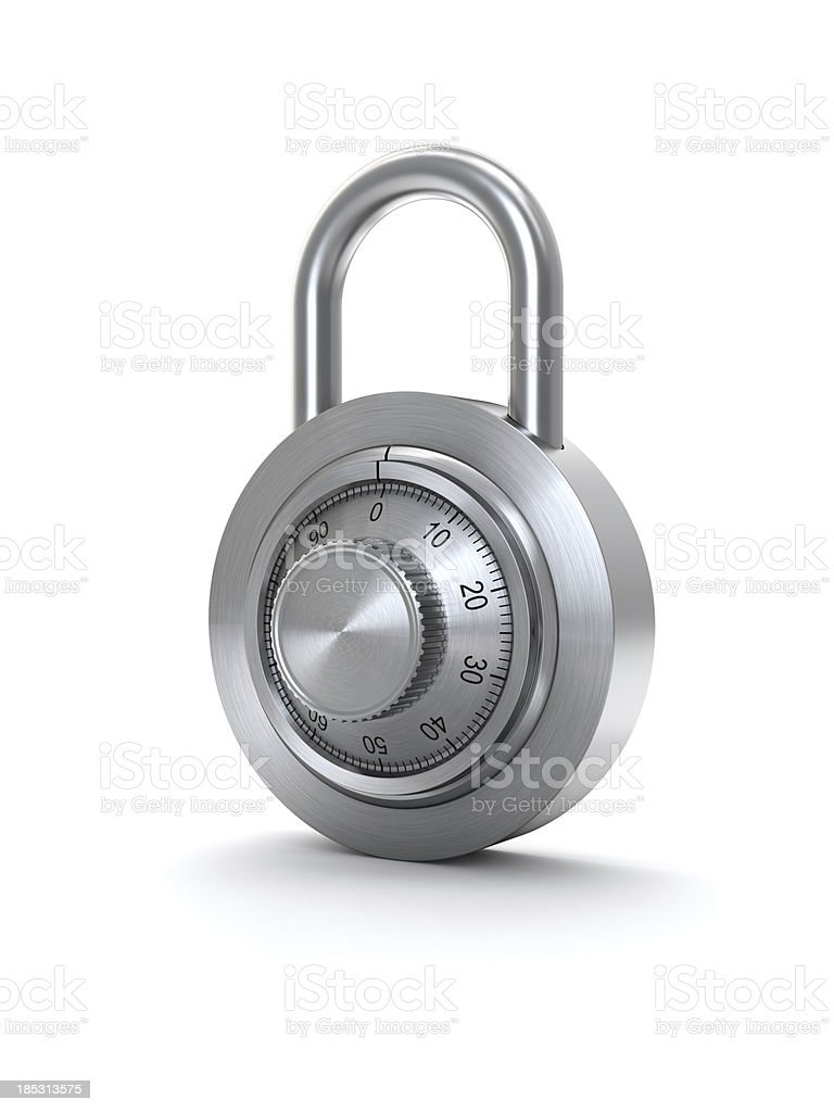 isolated lock stock photo