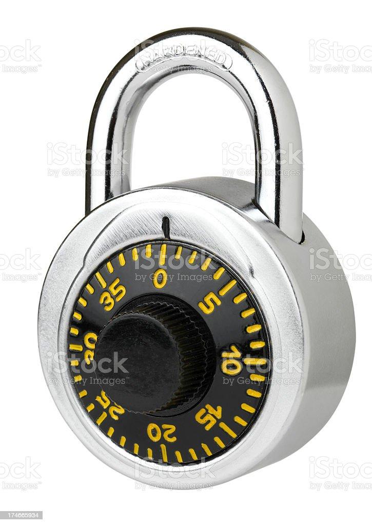 Isolated locked padlock royalty-free stock photo