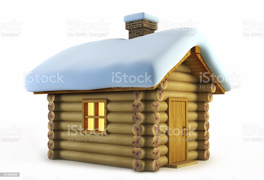 isolated loghouse royalty-free stock vector art