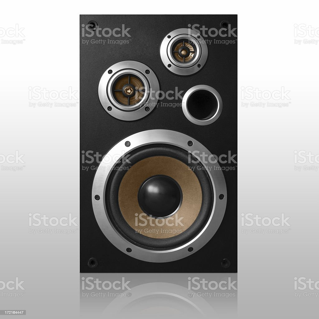 Isolated loudspeaker - Front shot   *clipping path included* stock photo