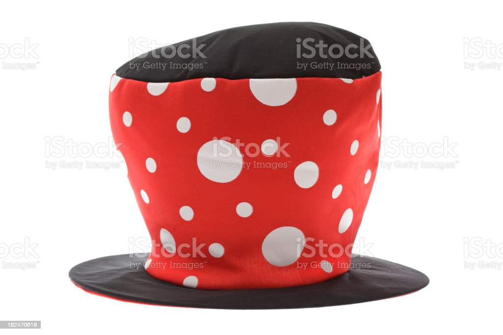 Isolated mad hatter hat royalty-free stock photo