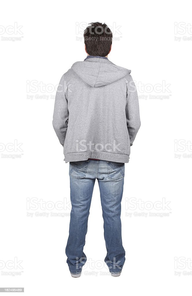 Isolated male back view royalty-free stock photo