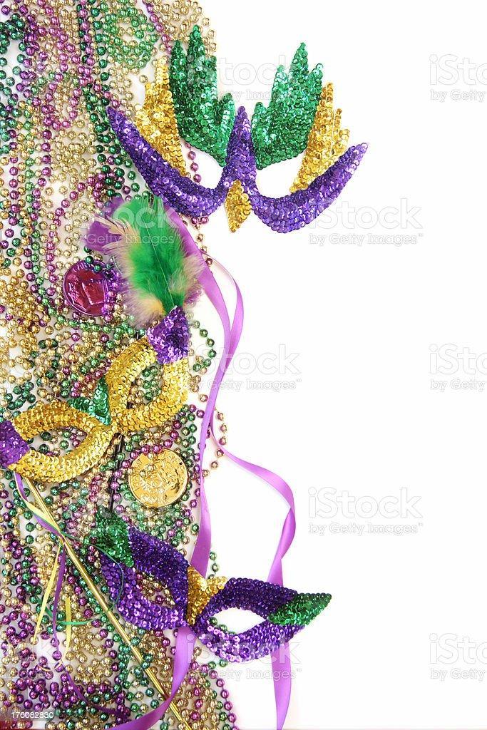 Isolated Mardi Gras Background royalty-free stock photo