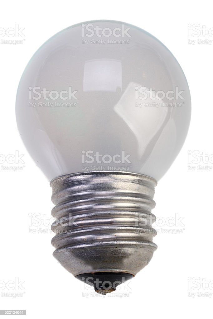Isolated mate light bulb stock photo