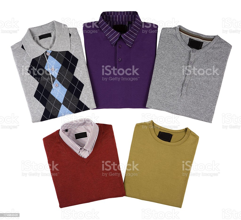 isolated men's clothes stock photo