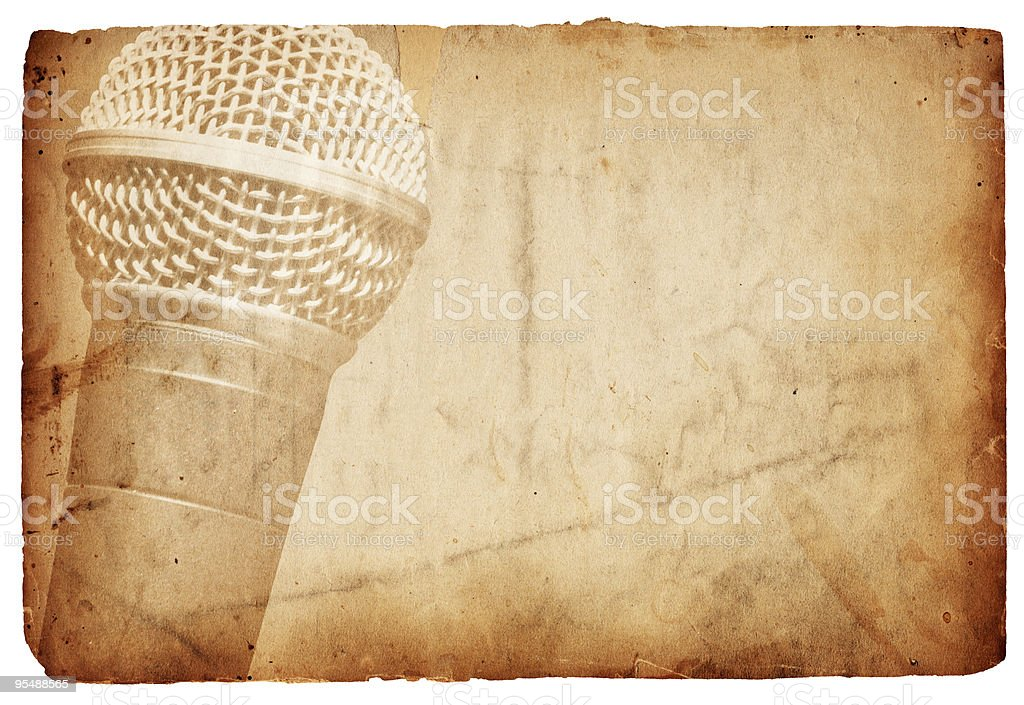Isolated Microphone Paper XXXL royalty-free stock photo