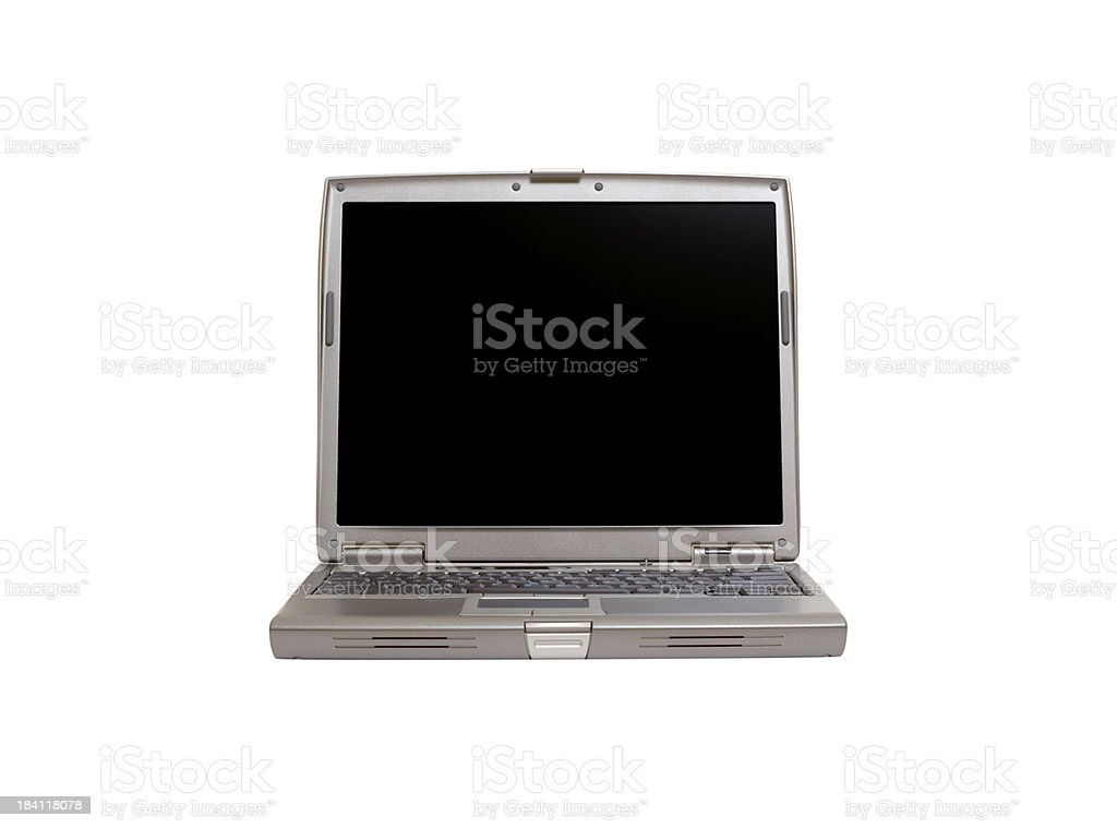 Isolated Modern Laptop royalty-free stock photo