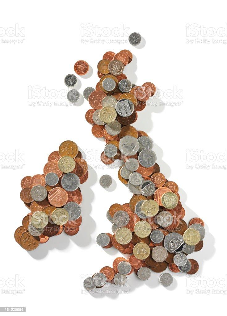 Isolated Money Map stock photo