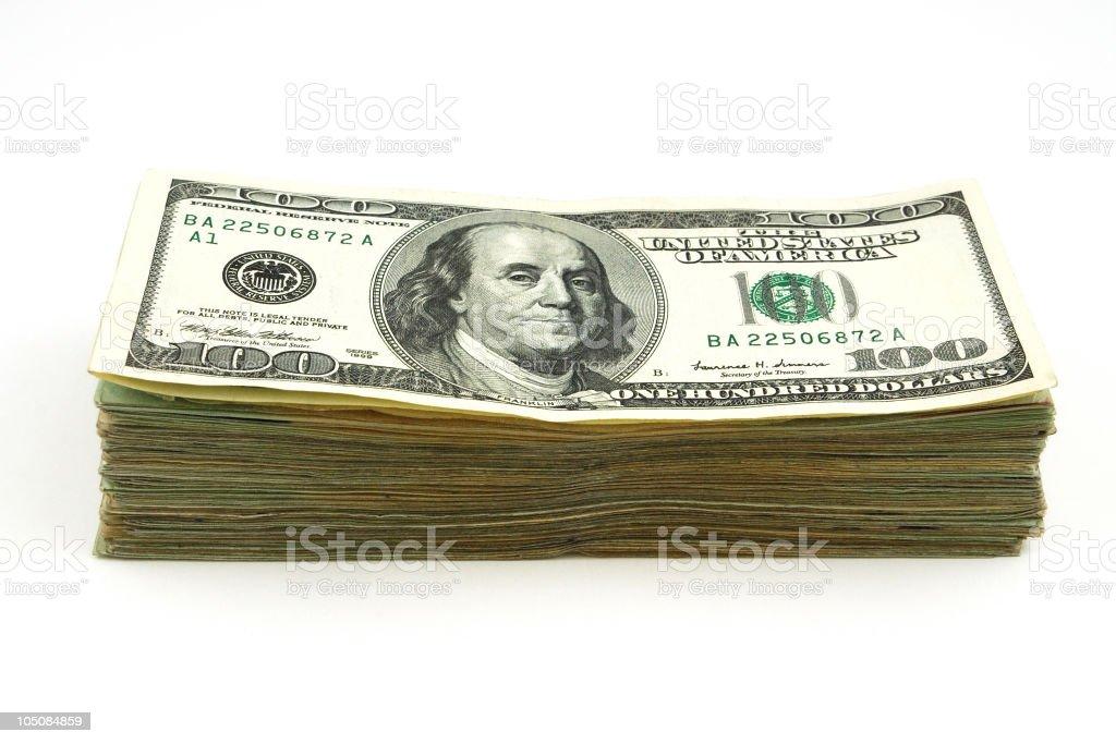 Isolated money royalty-free stock photo