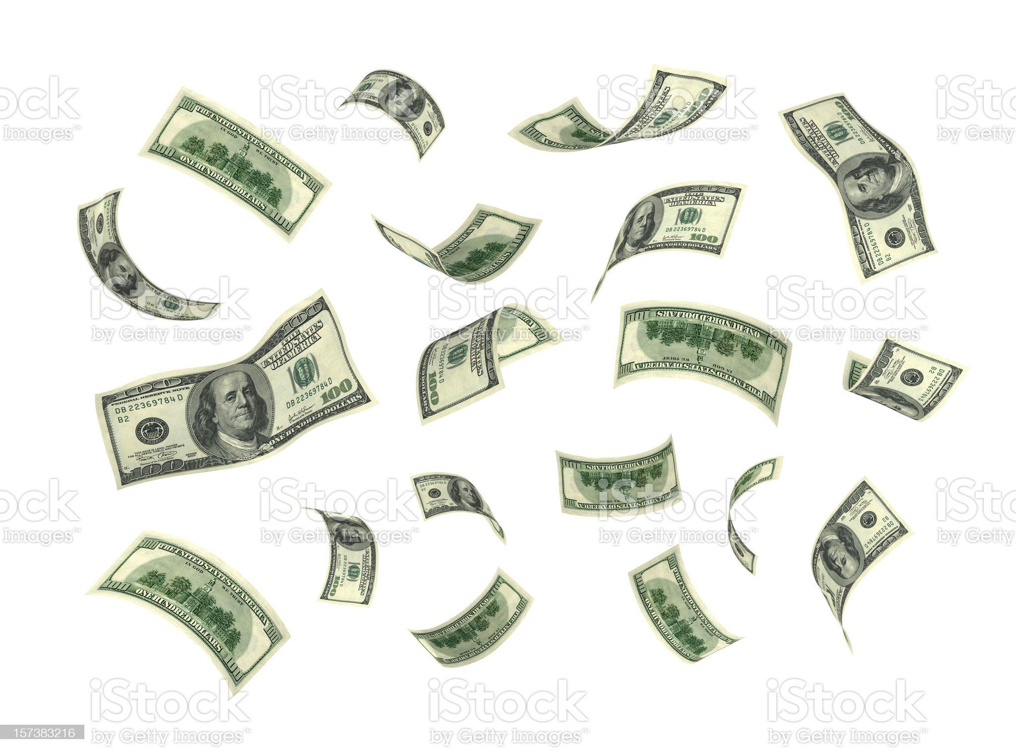 Isolated Money(XXL) royalty-free stock photo