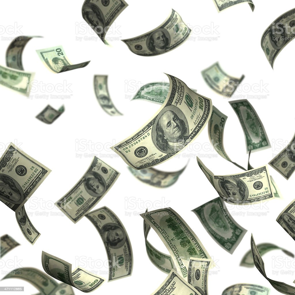 Isolated Money(XXL) royalty-free stock photo