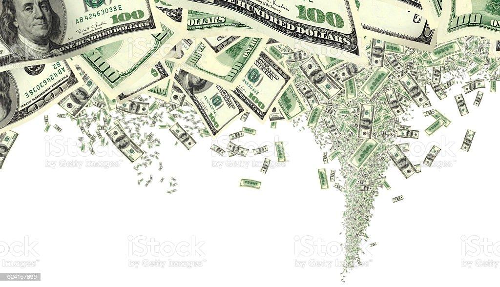 isolated money tornado stock photo