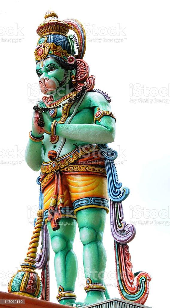 isolated monkey god statue stock photo