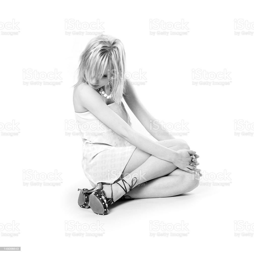 isolated monochrome beauty royalty-free stock photo