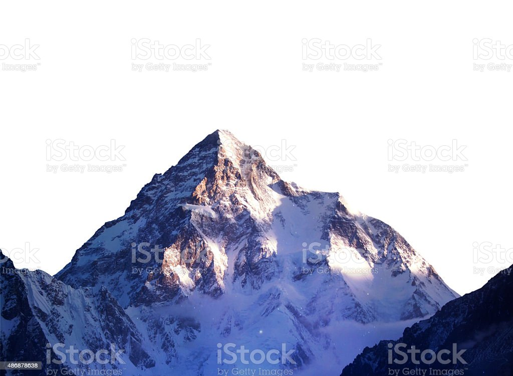 Isolated mountain stock photo