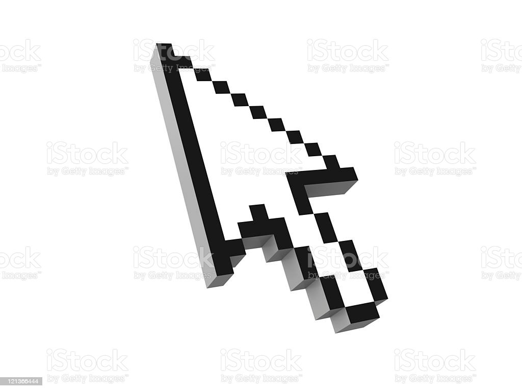 Isolated Mouse Pointer stock photo