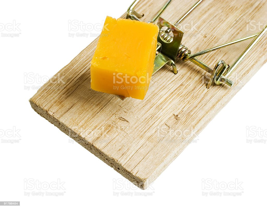 Isolated Mousetrap royalty-free stock photo