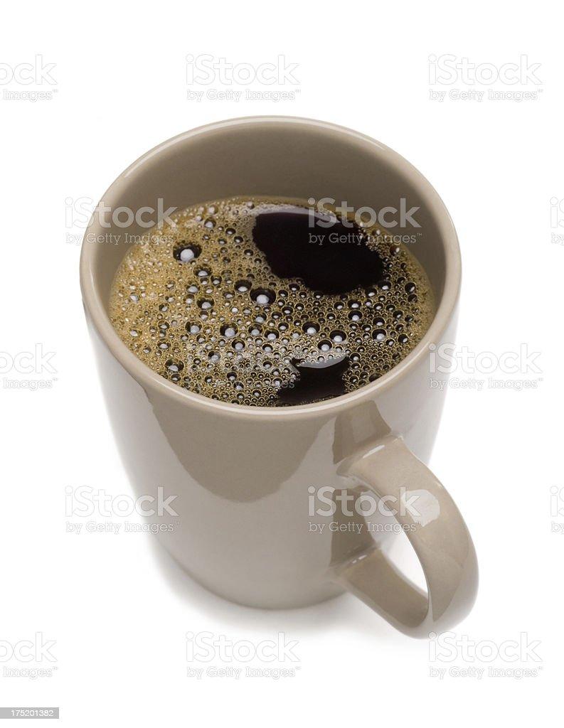 Isolated mug with black coffee royalty-free stock photo