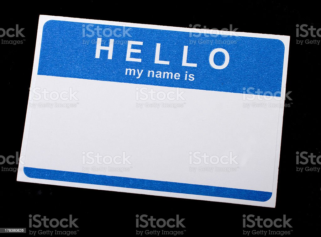 Isolated Name Tag stock photo