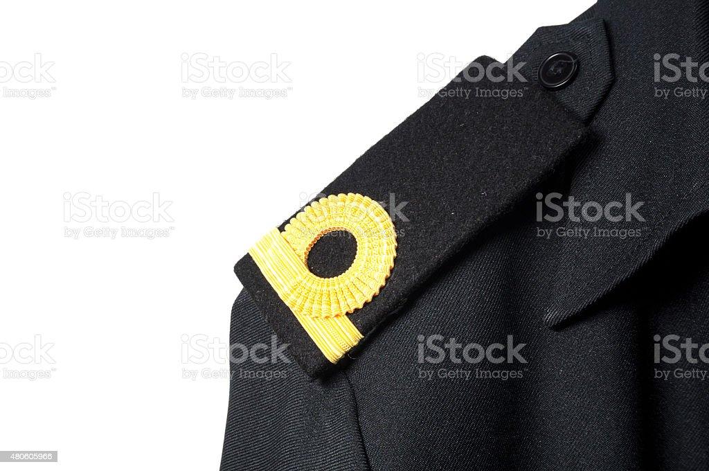Isolated Navy epaulet rank sign in uniform stock photo