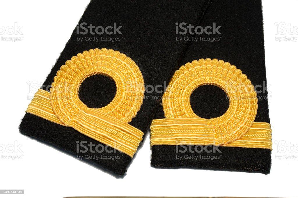 Isolated Navy epaulet rank sign stock photo