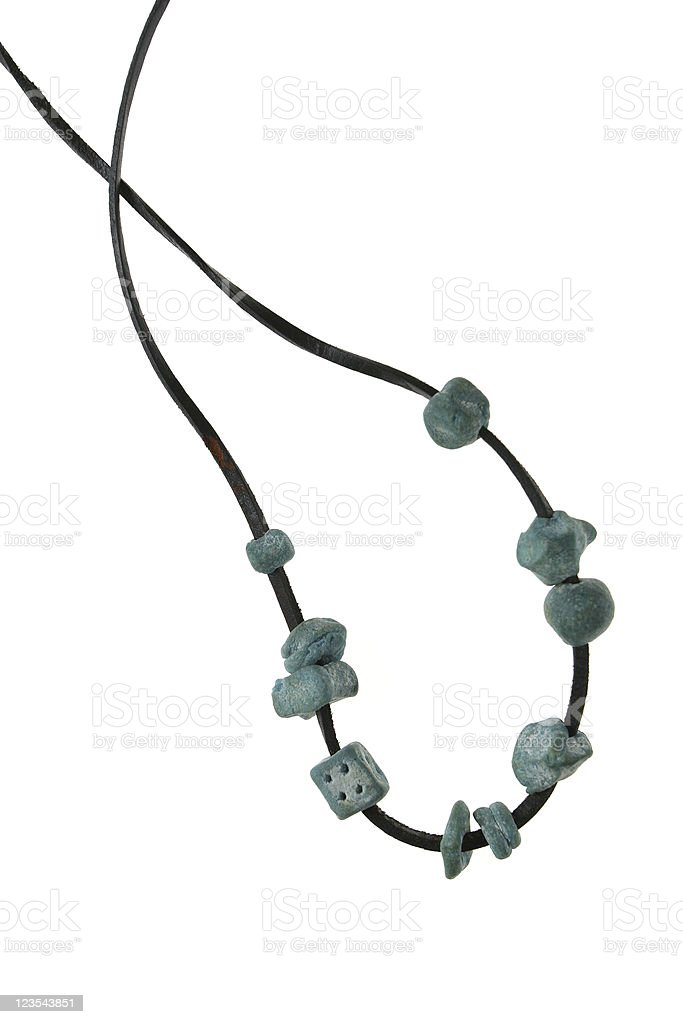 Isolated necklace royalty-free stock photo
