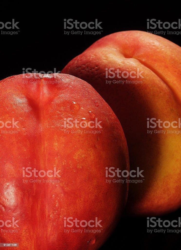 Isolated Nectarines royalty-free stock photo