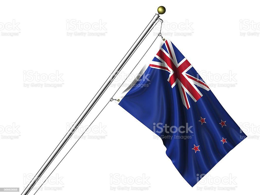 Isolated New Zealand Flag royalty-free stock photo