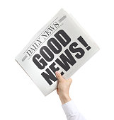 Isolated Newspaper with Good News