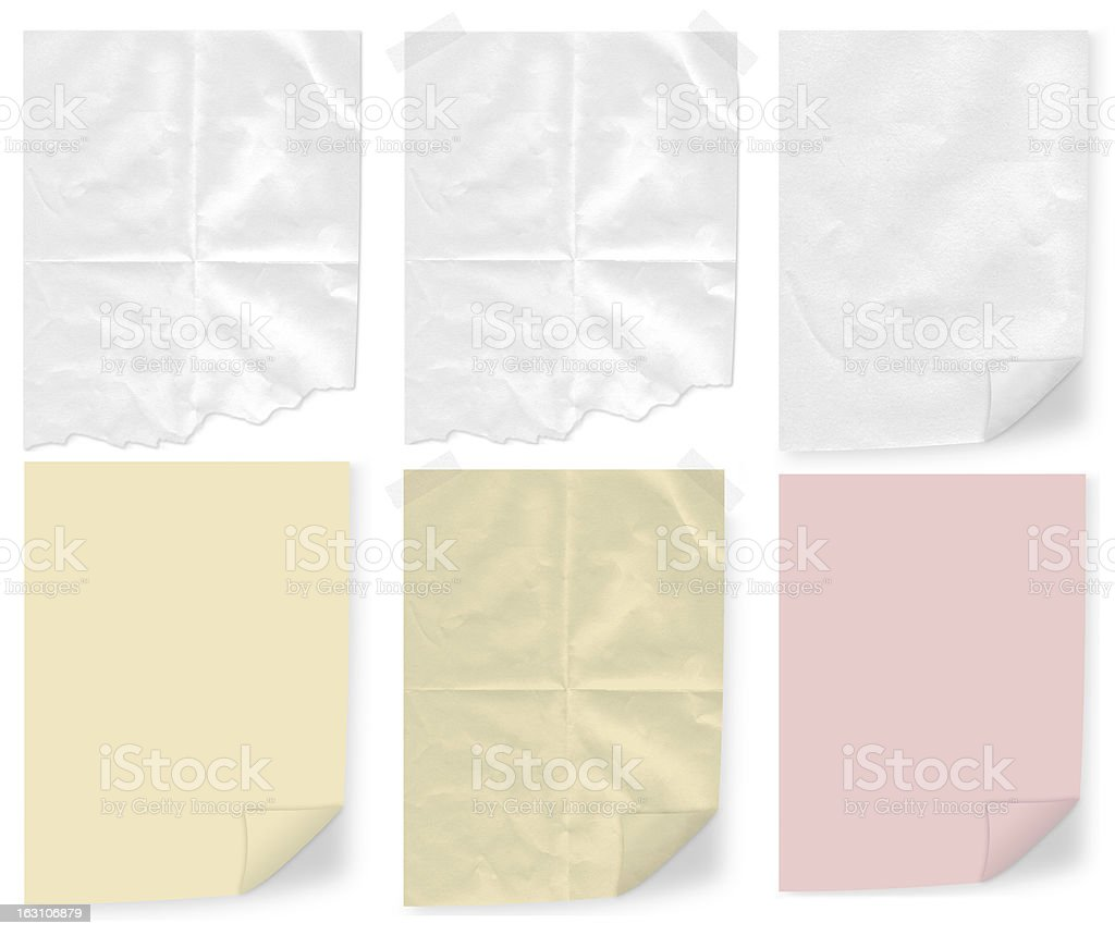 Isolated note papers set royalty-free stock photo