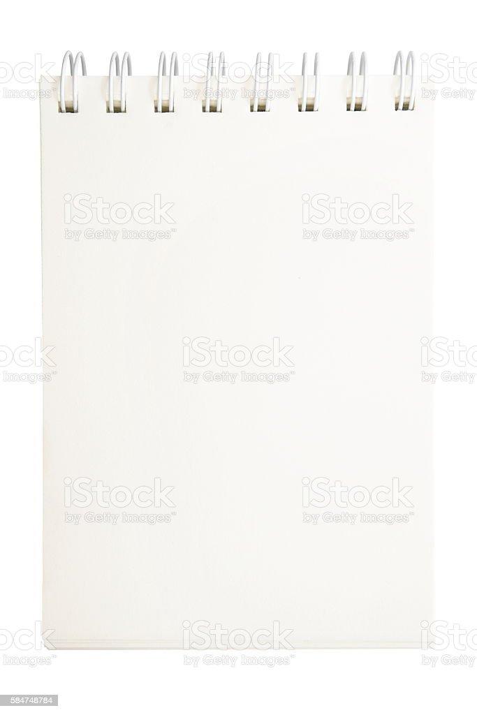 Isolated notepad stock photo
