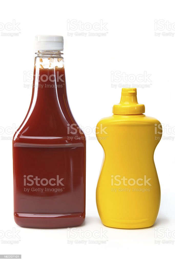 Isolated Objects - Catsup and Mustard stock photo