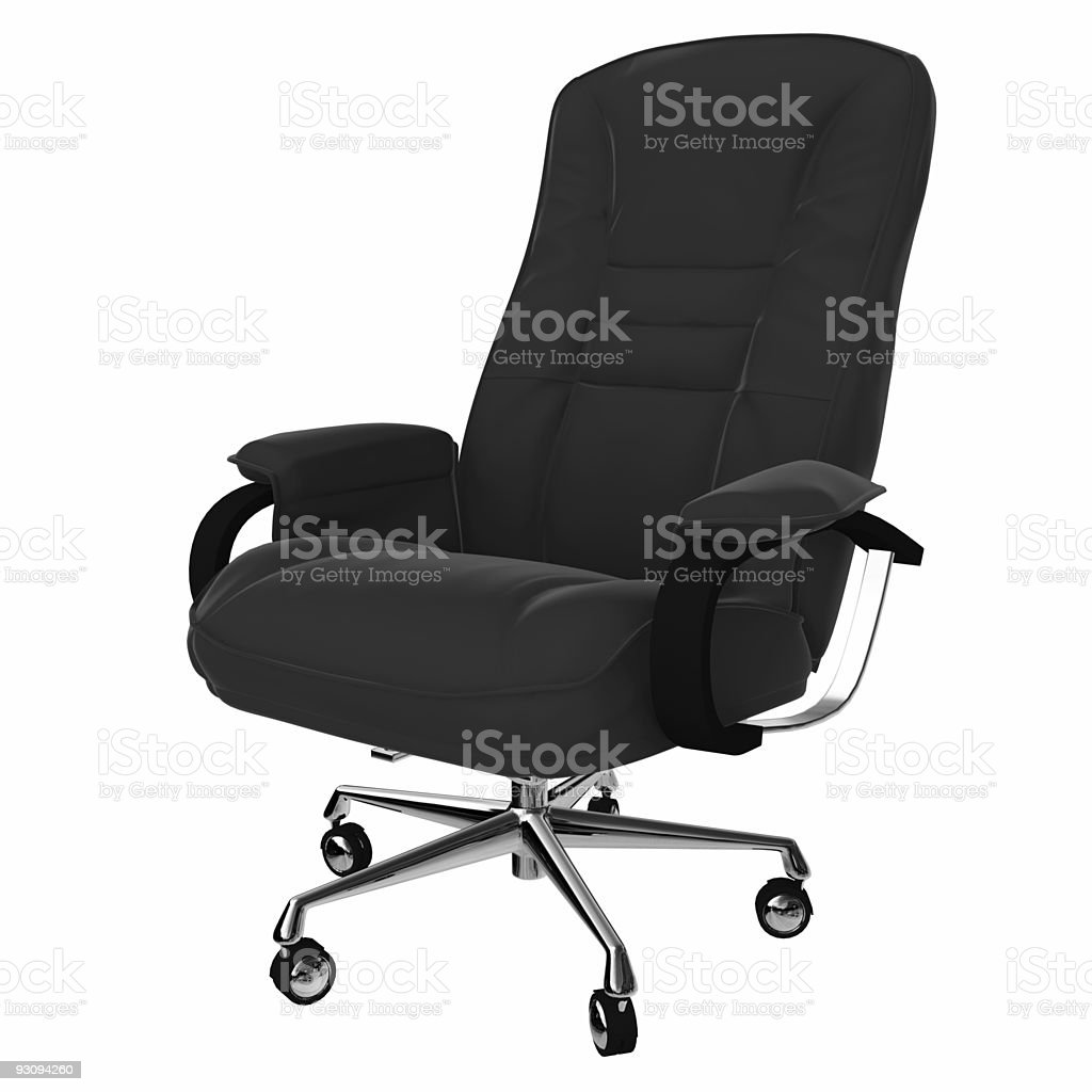 Isolated office armchair 01 royalty-free stock photo