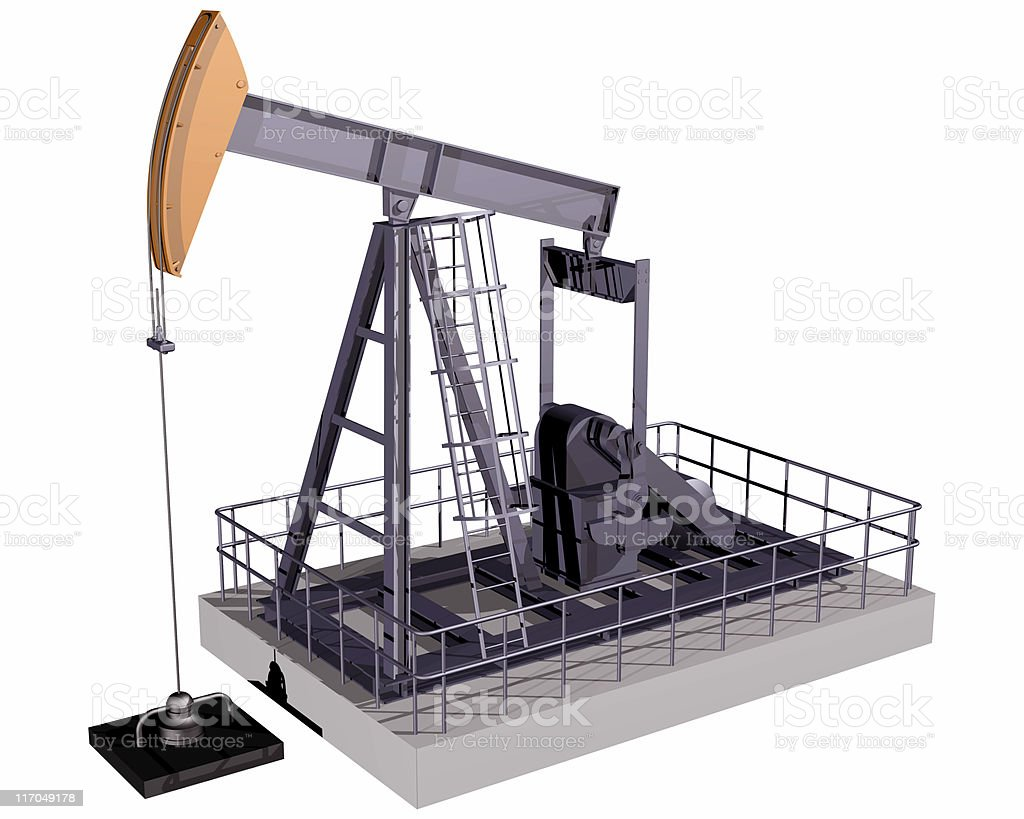 Isolated Oil Rig royalty-free stock photo