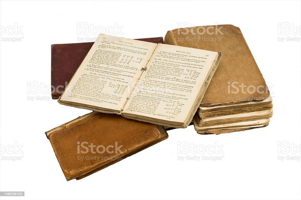Isolated old books royalty-free stock photo