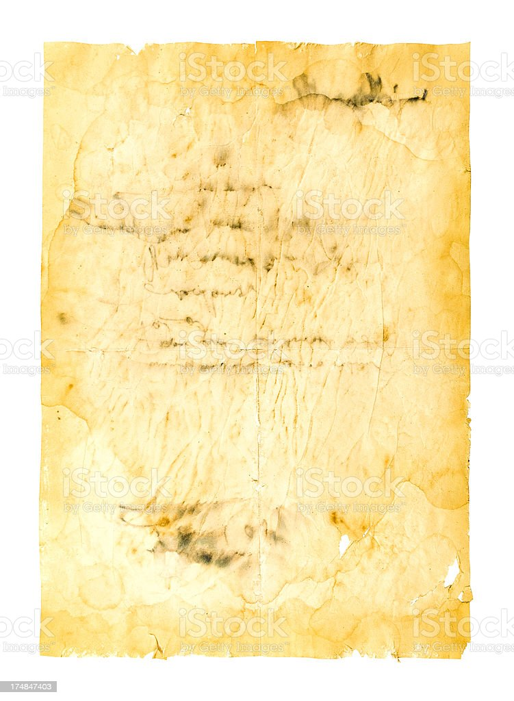 Isolated Old Paper royalty-free stock photo