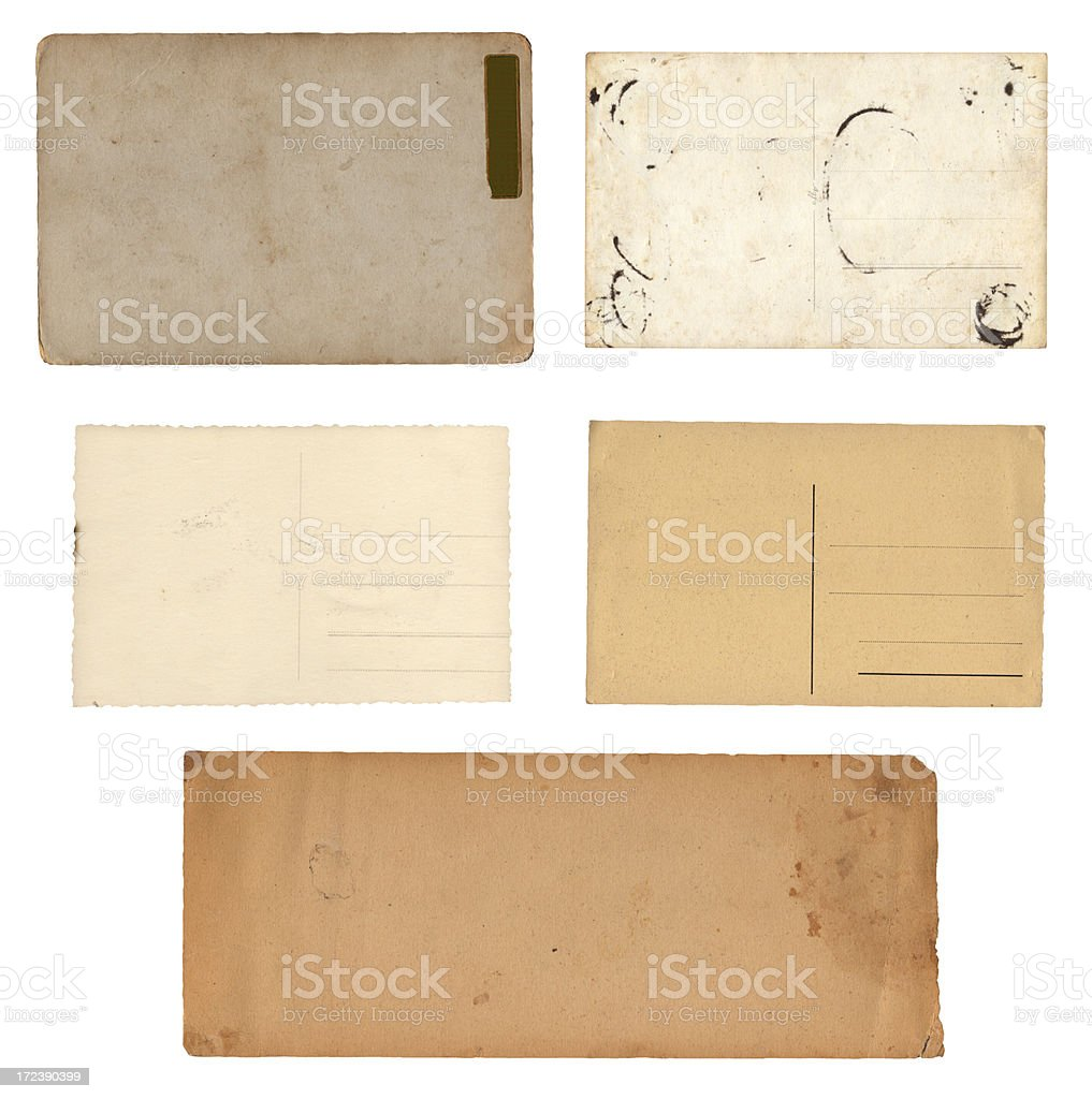 isolated old postcards collection XXXXL royalty-free stock photo