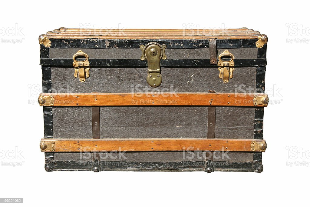 isolated old trunk royalty-free stock photo